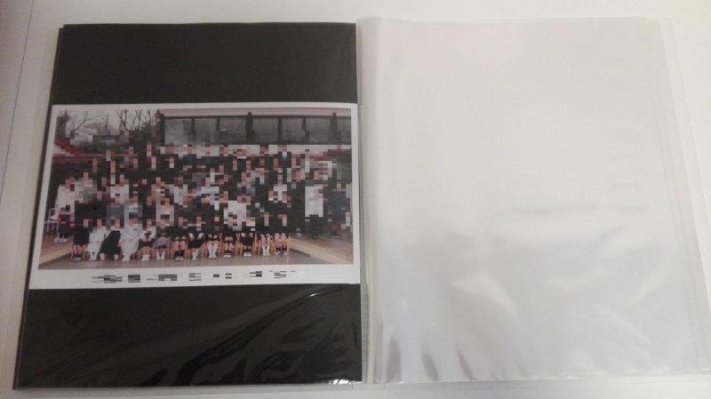 無印ポリプロピレンソフトフィルムクリアホルダーA4ワイドにギリギリ収まった集合写真