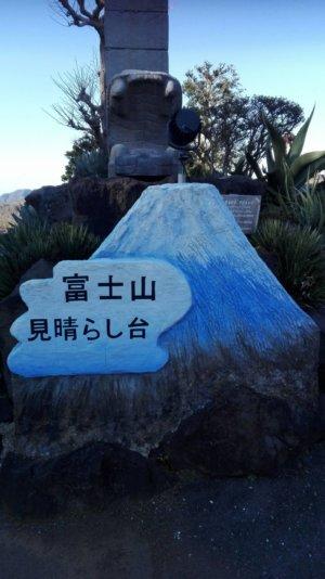 伊豆シャボテン動物公園の富士山見晴らし台