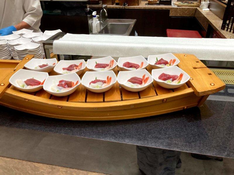 ホテル瑞鳳朝食ビュッフェのお刺身