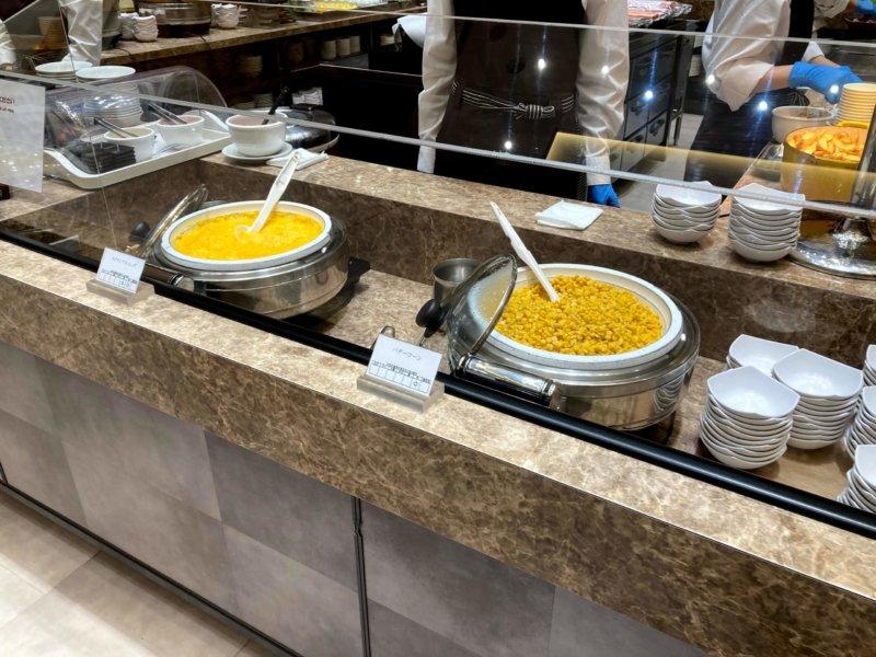 ホテル瑞鳳朝食ビュッフェのスクランブルエッグ