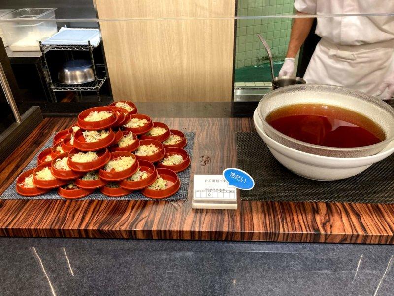 ホテル瑞鳳朝食ビュッフェの温麺