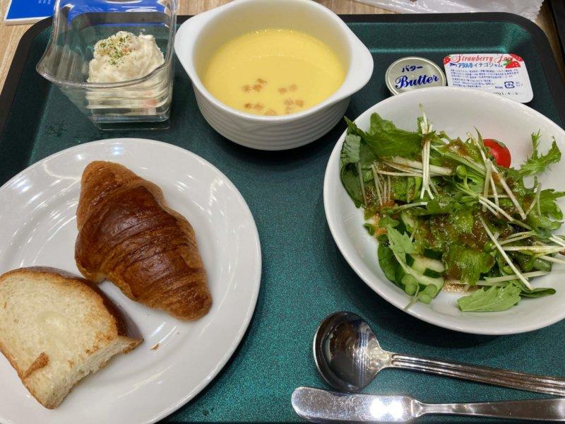 ホテル瑞鳳朝食ビュッフェの洋定食