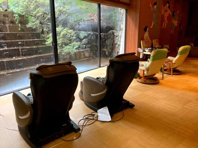 ホテル瑞鳳温泉にあるマッサージチェア