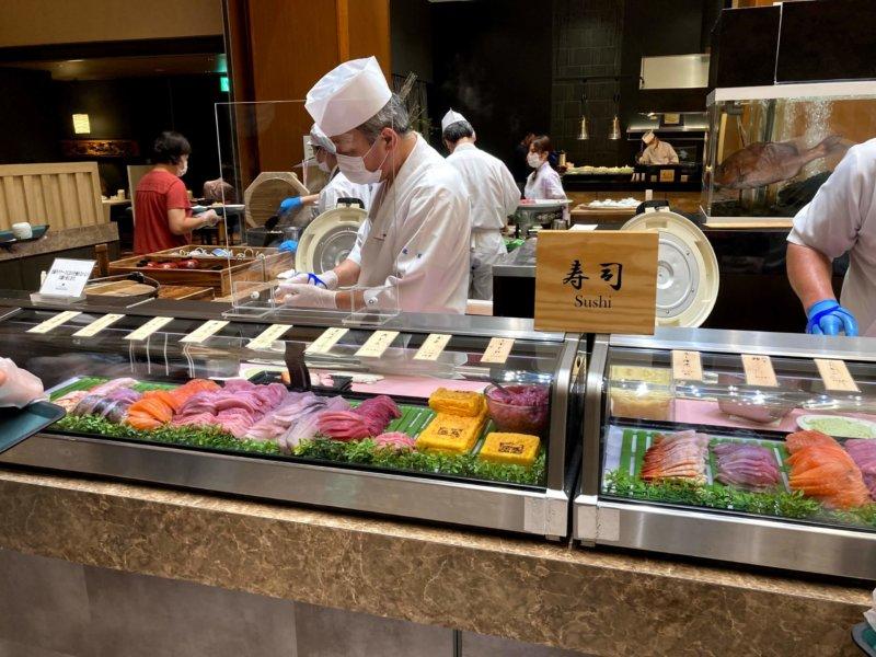 ホテル瑞鳳夕食バイキングの寿司