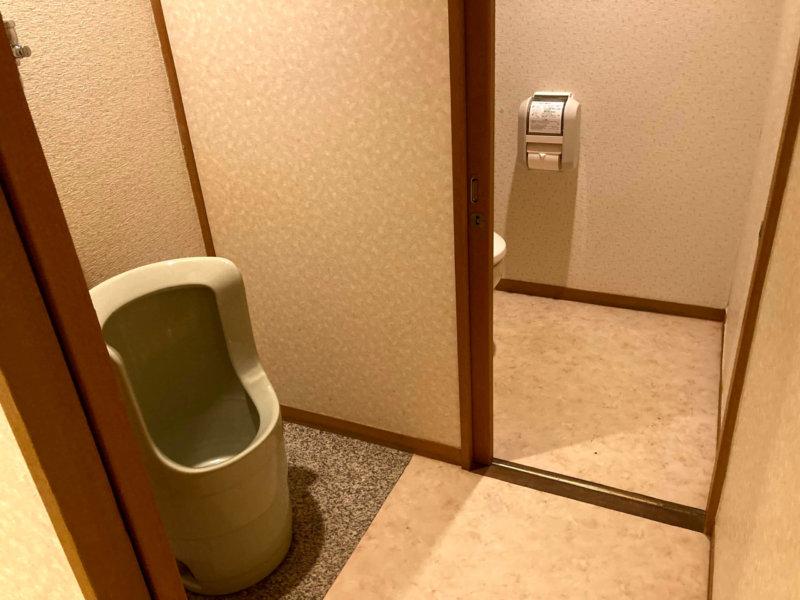 ホテル瑞鳳の客室にあるトイレ