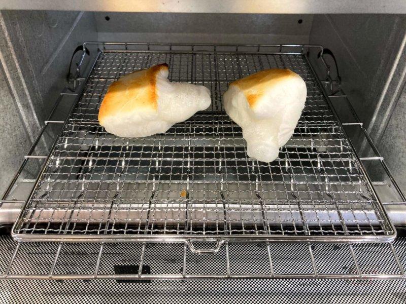 パナソニックコンパクトオーブンでこんがりぷっくり焼けたおもち