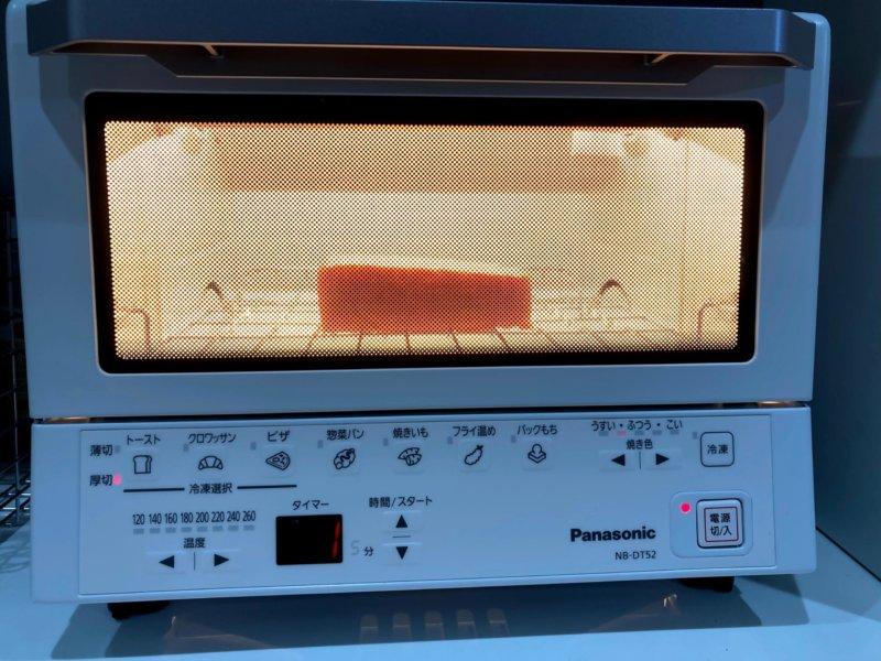 庫内がとても眩しいパナソニックコンパクトオーブン