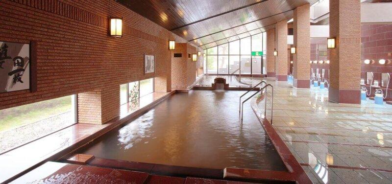 秋保温泉篝火の湯緑水亭の大浴場