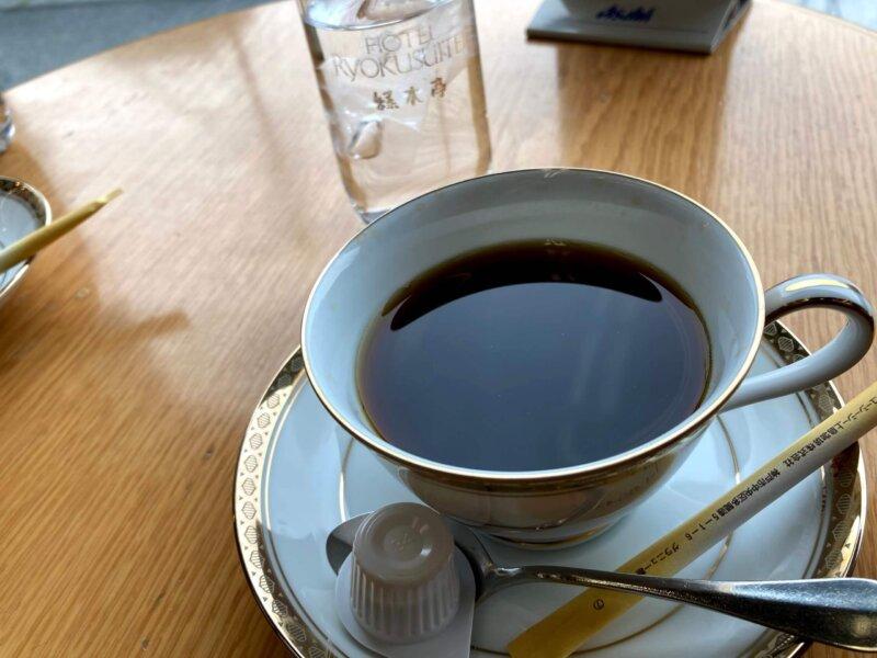 秋保温泉篝火の湯緑水亭かほピョンくらぶの会員証提示で無料サービスのコーヒー