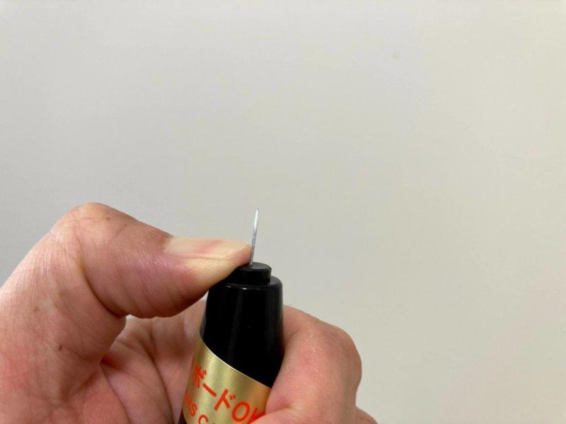 カインズ室内用物干しポールの設置に使った下地探知機の針