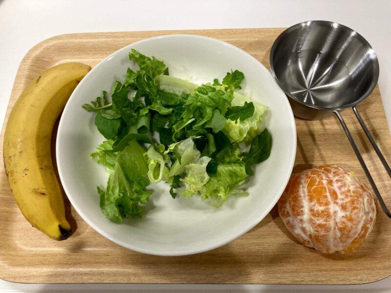 プチ断食中朝食用スムージーの材料