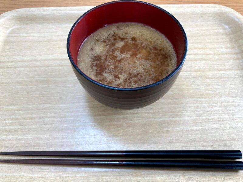10時の間食に飲んだ具なし味噌汁(しょうがのすりおろしたっぷり)