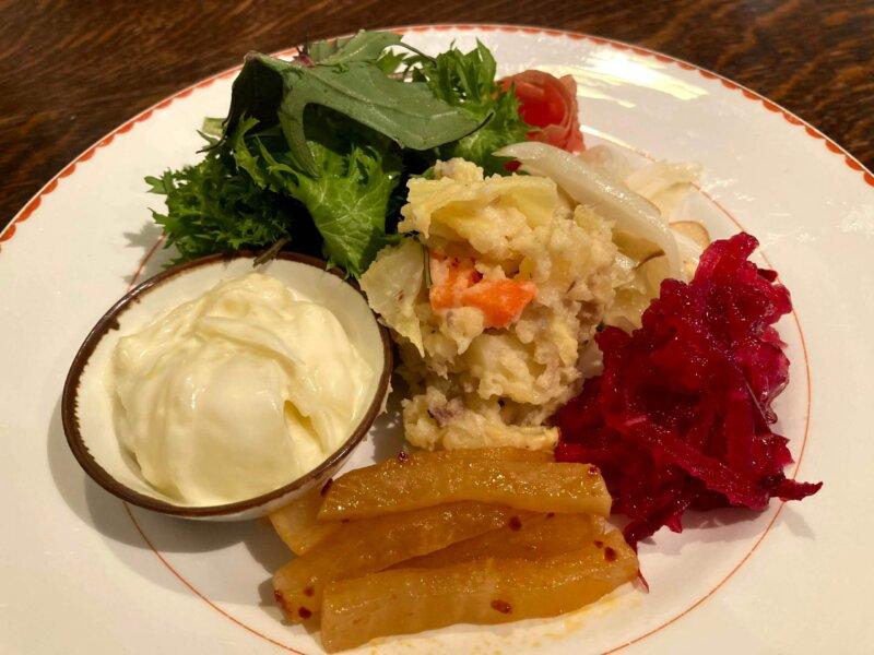 カッフェトムテのお野菜たっぷりのランチ
