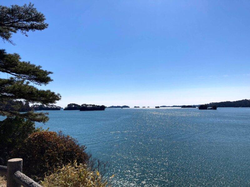 「五大堂」から眺める松島湾
