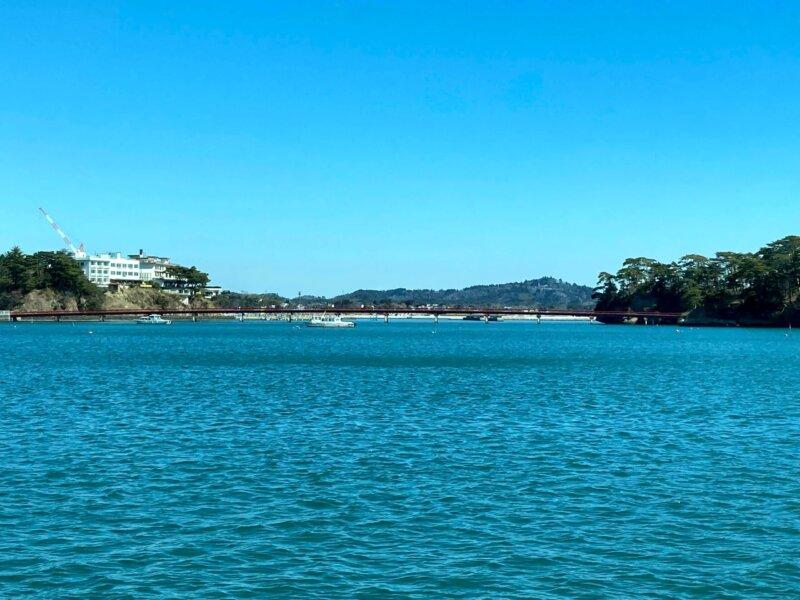 松島島巡り観光船『仁王丸』から見えた『福浦橋』