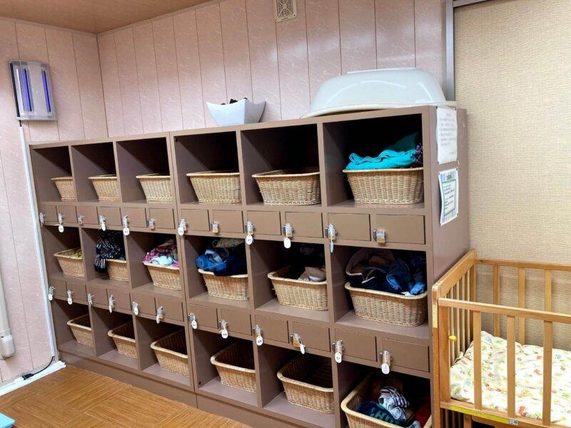 松島温泉ホテル絶景の館脱衣所のロッカー