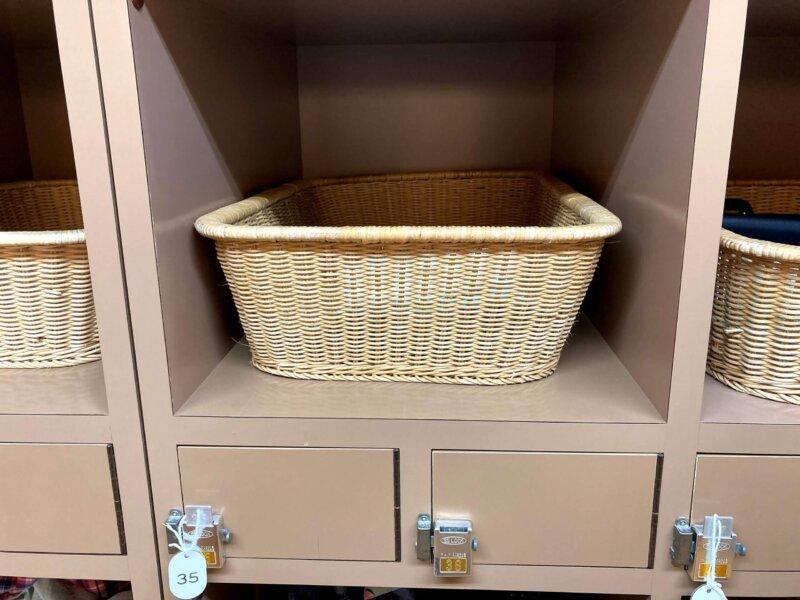 松島温泉ホテル絶景の館脱衣所の便利な貴重品ロッカー