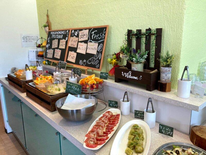 「六丁目農園」ビュッフェのフルーツバーコーナー