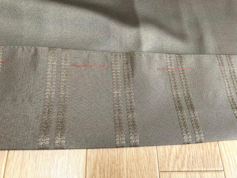 カーテンの長さが決まったらざっくり仮縫い