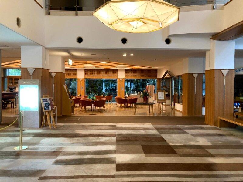 蔵王国際ホテルのロビー