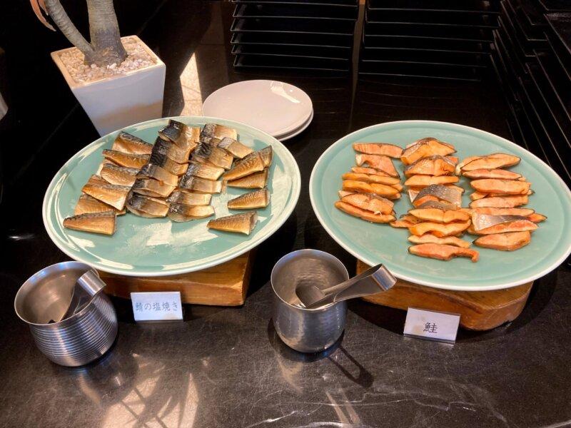 『鳴子ホテル』朝食バイキングの焼き魚