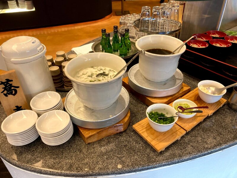 『鳴子ホテル』バイキングメニュー『蕎麦』