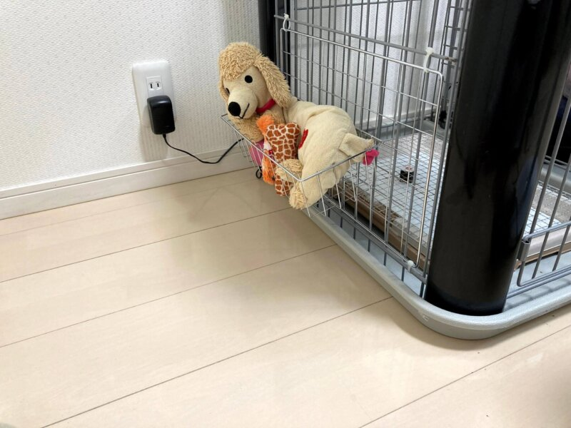 超簡単DIYで浮かせることに成功した愛犬のおもちゃ収納
